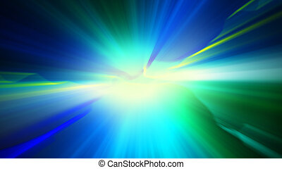 blue green shiny light abstract background