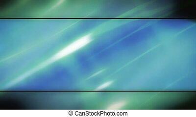Blue green soft flowing abstract