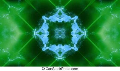 Blue green soft flowing VJ loop