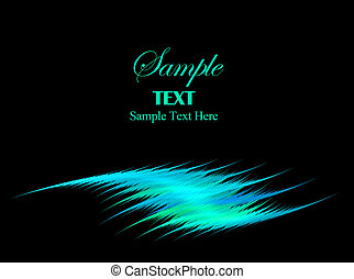 Blue Green Swoosh with Copy space for Text - Blue Green...