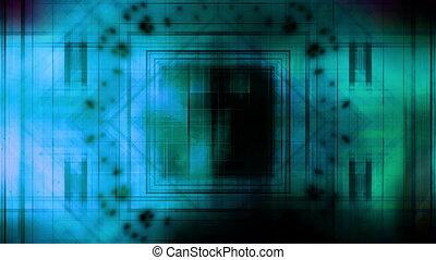 Blue green VJ abstract loop