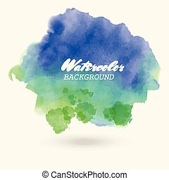 blue green watercolor background