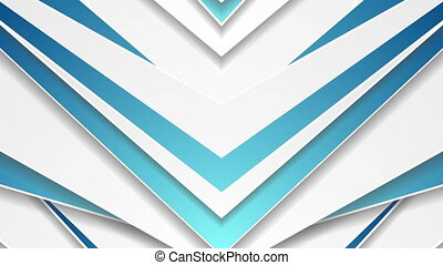 Blue grey abstract arrows technology video animation