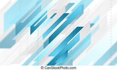 Blue grey geometric abstract tech motion design - Blue and...