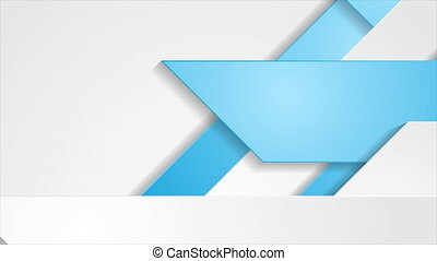 Blue grey geometric tech abstract motion background - Blue ...