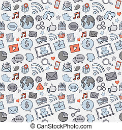 Blue, grey, red Sticker mobile apps