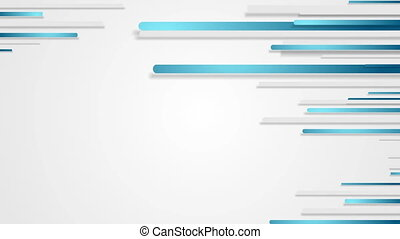 Blue grey stripes abstract tech video animation