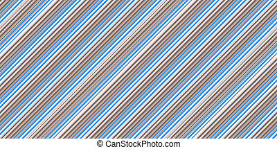 Blue Grey White Seamless Inclined Stripes Background. Modern Colors Sidelong Lines Texture. Vintage Style Stripe Backdrop.
