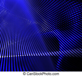 Blue Grid - abstract blue lines background