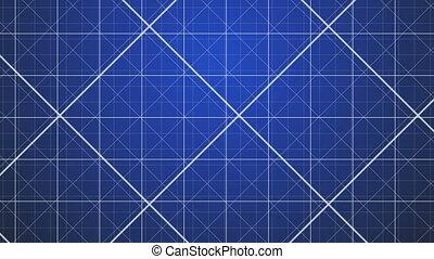 Blue Grids Background.