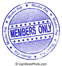 Blue grunge apply members only stamp