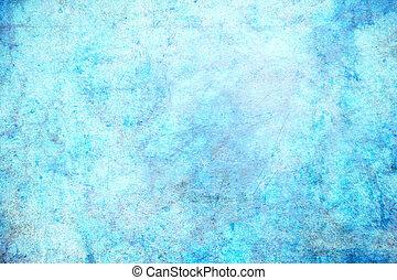 Blue grunge background - An aqua blue dirty grunge ...