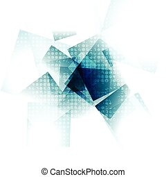 Blue grunge geometric vector design
