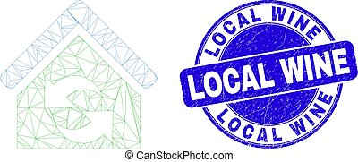 Blue Grunge Local Wine Stamp and Web Carcass Refresh House