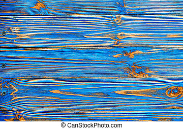 Blue grunge longstanding wooden background