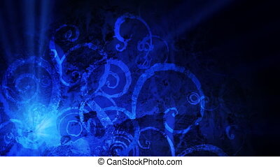 Blue grunge motion background