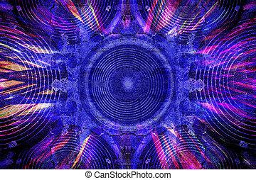 Blue grunge music speakers background