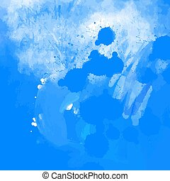 Blue grunge paint splatter background