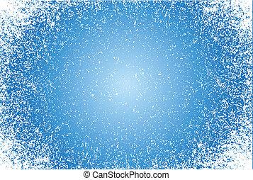 blue Grunge pattern frame background