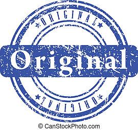 Blue grunge stamp.