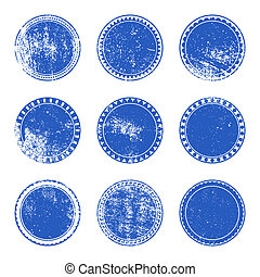 Blue Grunge Stamp Set
