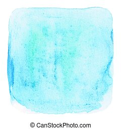 Blue grunge watercolor on white background