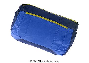 blue hátizsák, fehér, elszigetelt