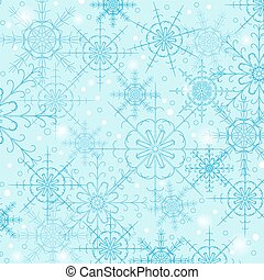 blue háttér, ábra, vektor, snowflakes.