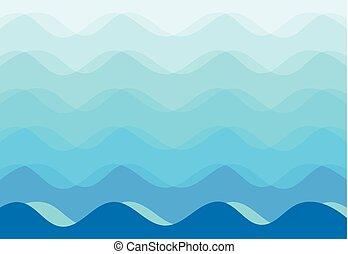 blue háttér, elvont, vektor, tenger, lenget