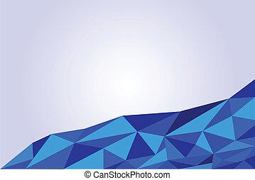 blue háttér, háromszög