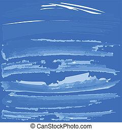 blue háttér, noha, fehér, ecset, festék