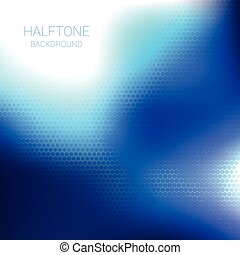 Blue halftone vector design background
