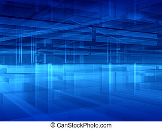 Blue hall abstract - Abstract transparent blue geometric ...