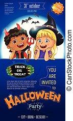 Blue Halloween poster template