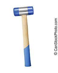 blue Hammer on white