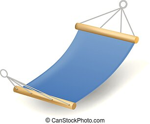 Blue hammock icon, realistic style