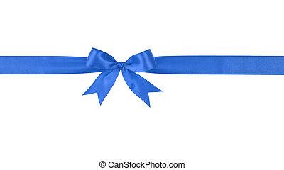 blue handmade ribbon with bow