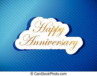 blue happy anniversary card