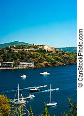 Blue Harbor, island elba, tuscany view cape table