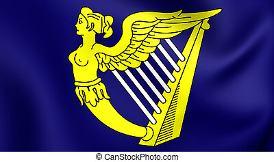 Blue Harp Flag of Ireland