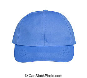 blue hat isolated on white
