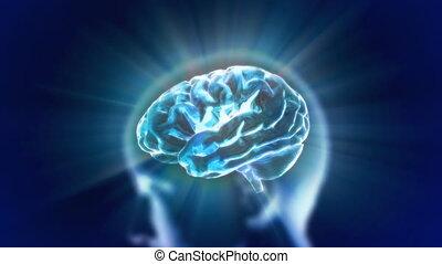 blue head brain flare