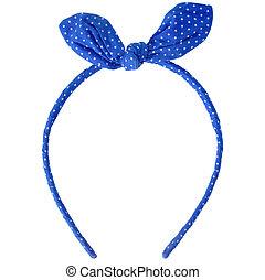 blue headband isolated on white background