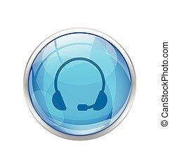 blue headset button
