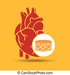 blue heart cheese icon graphic
