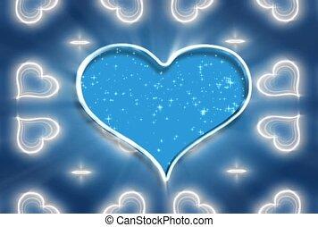Blue Heart In Silver Frame