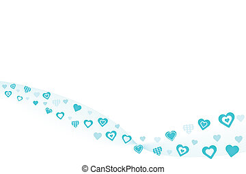 Blue Hearts Background