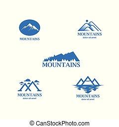 blue hegy, elvont, minimalistic, jel, set.