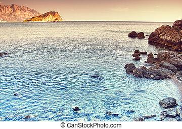 blue hegy, türkiz, ég, tenger