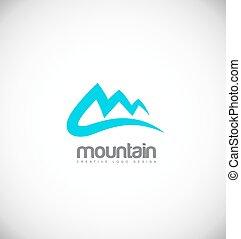 blue hegy, tervezés, jel, ikon